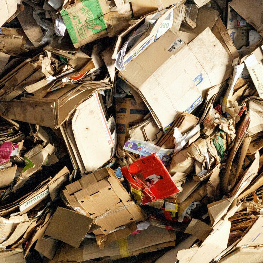 Cardboard recycling.