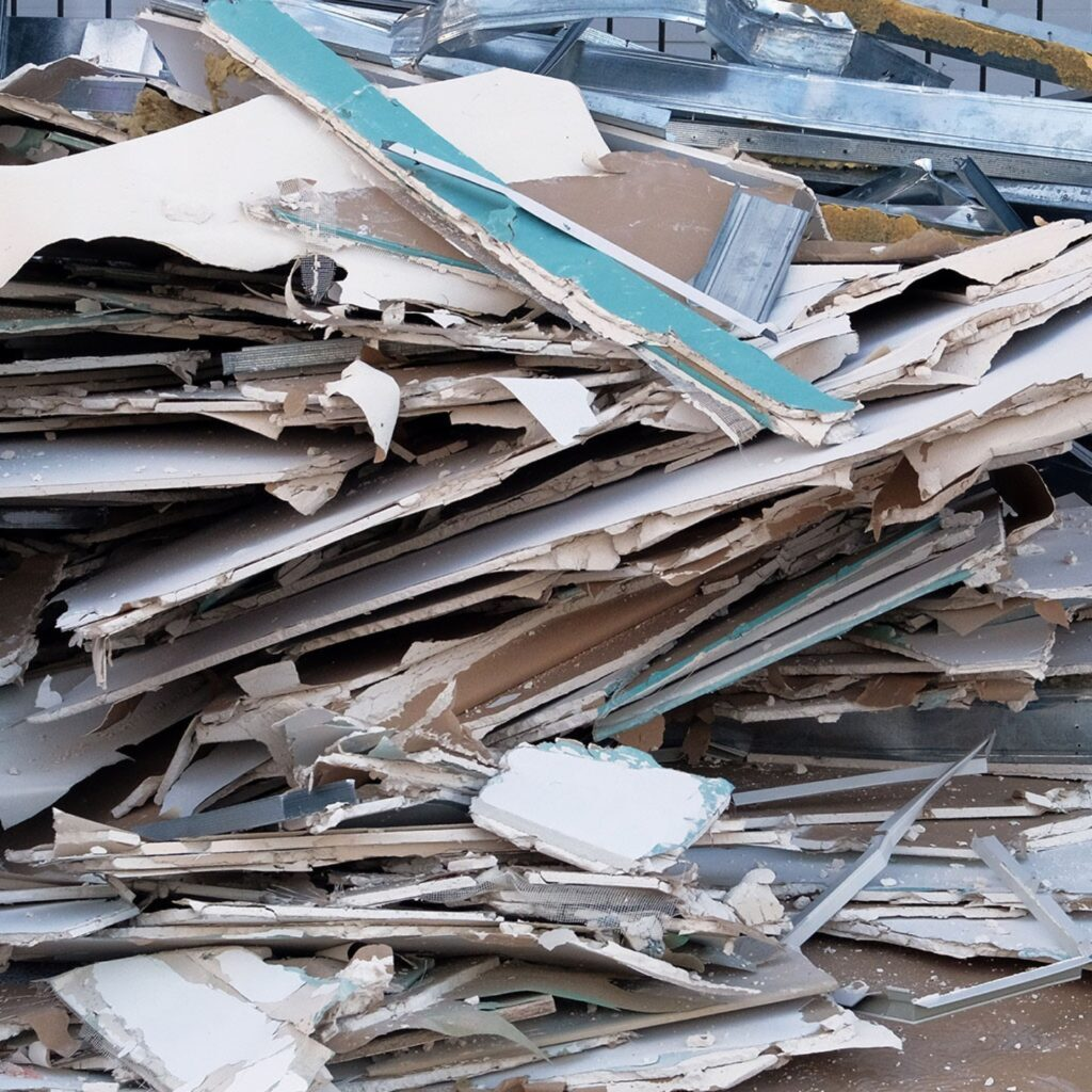 Drywall and sheet rock recycling.
