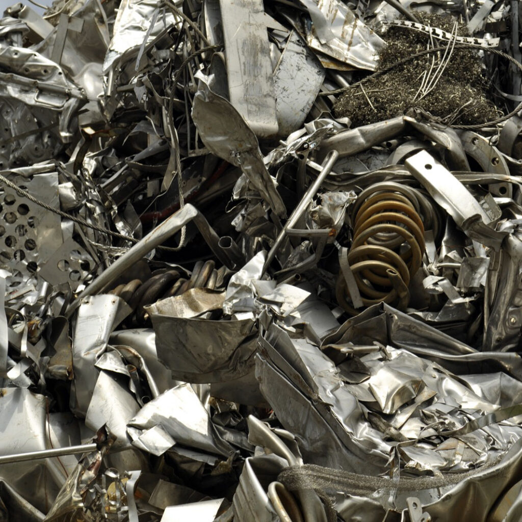 Metal recycling.