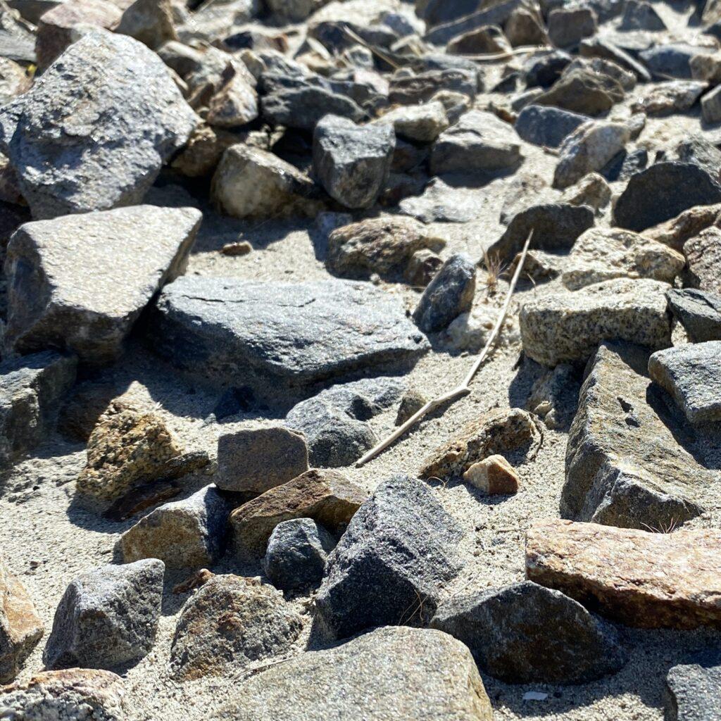 Rock recycling.