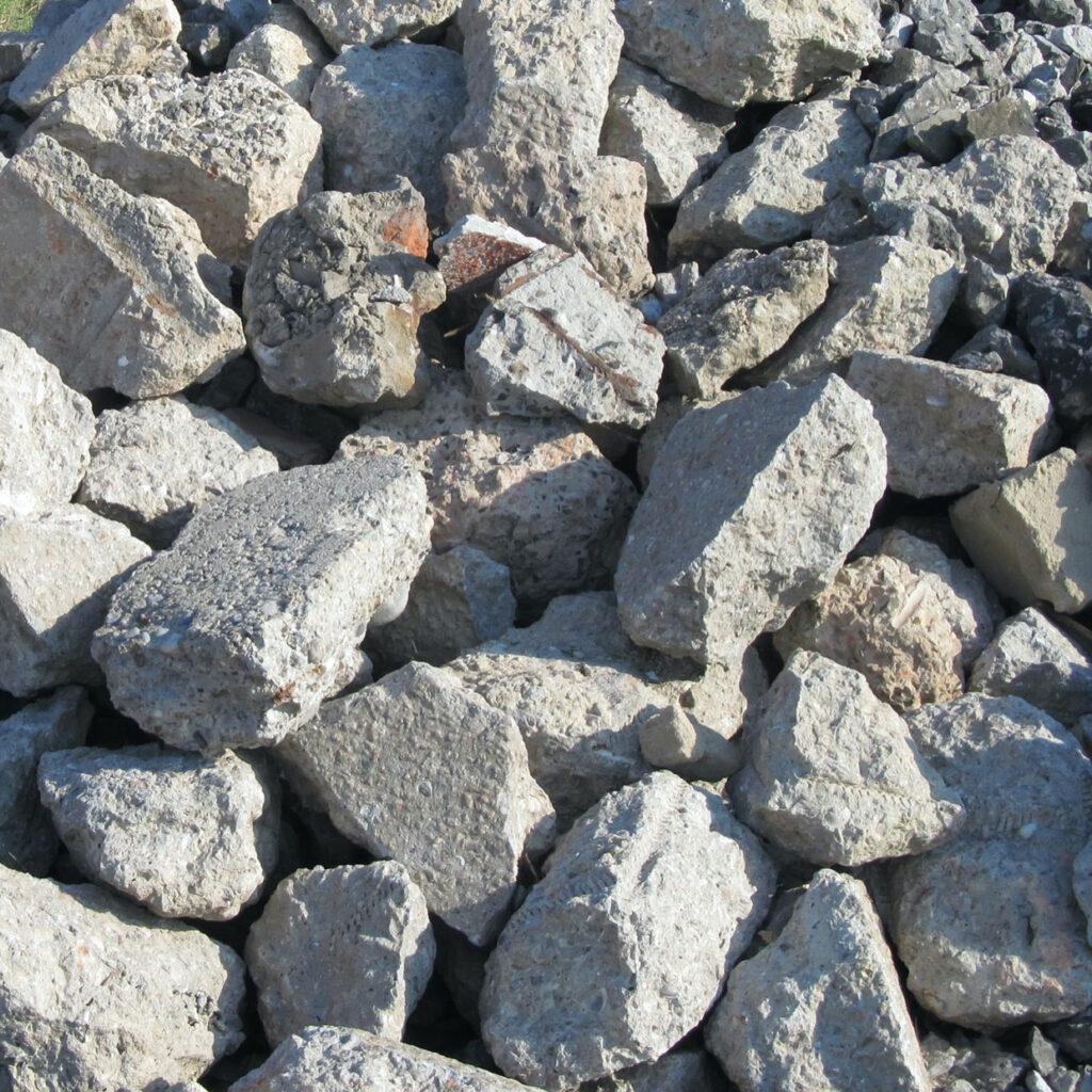 Concrete recycling.