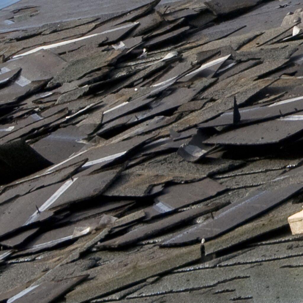 Asphalt shingle recycling.